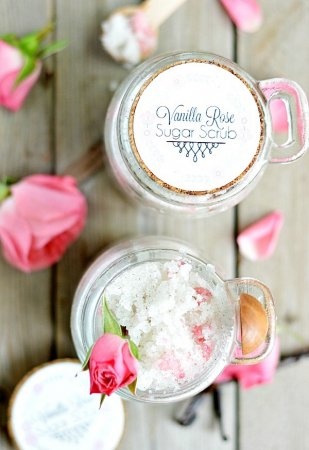 Vanilla Rose Sugar Scrub Recipe